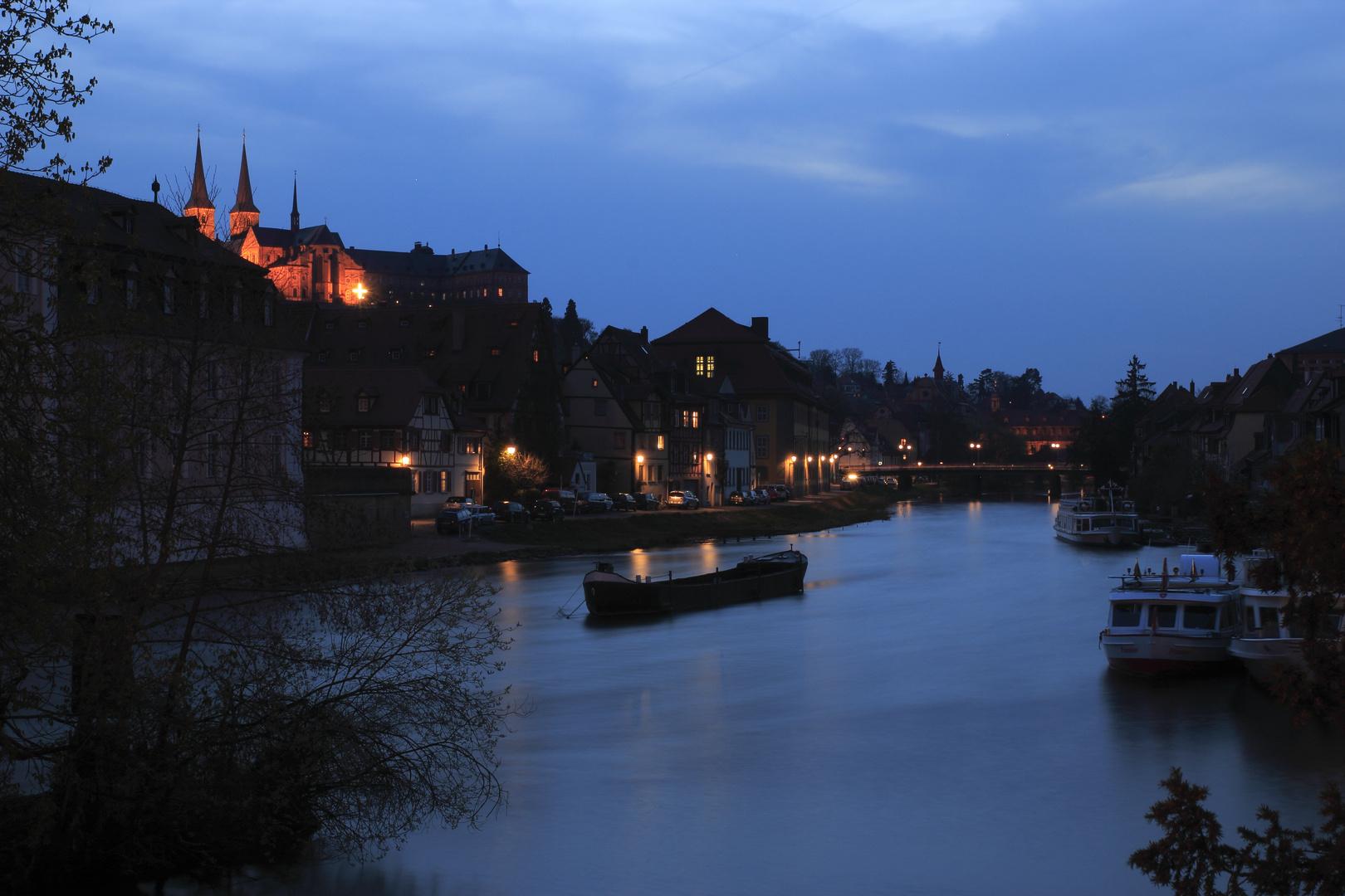 Die Regnitz mit dem Kloster Michelsberg
