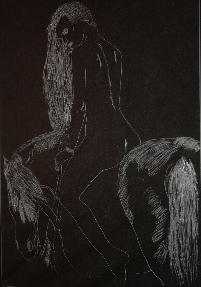Die Reiterin (nach einem mir leider unbekanntem Künstler)