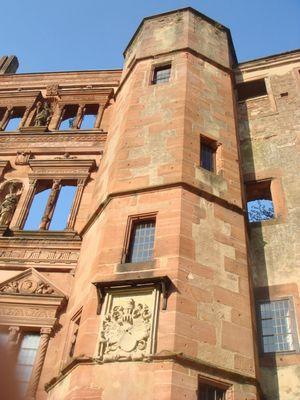 die Reste von dem Schloss