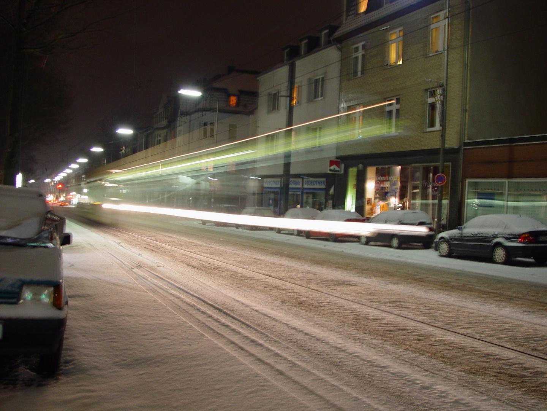 Die Rheinbahn im Schnee