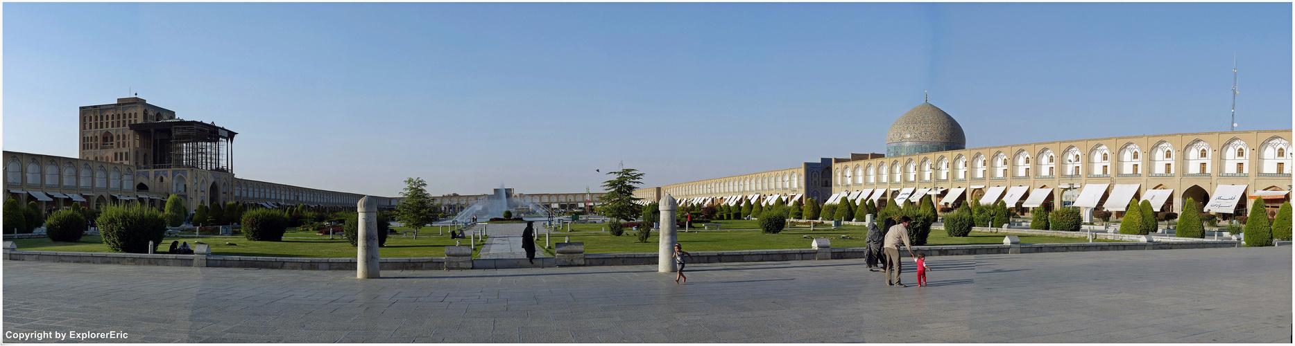 die riesige Palast-Anlage Ali Qapu............