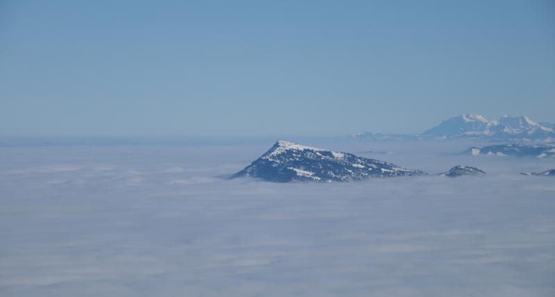 Die Rigi über den Wolken