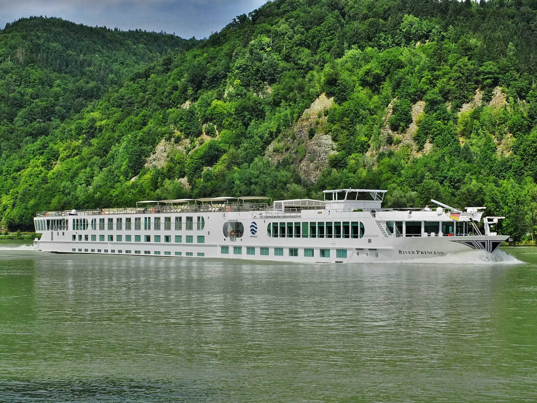 Die River Princess auf dem Weg nach Wien