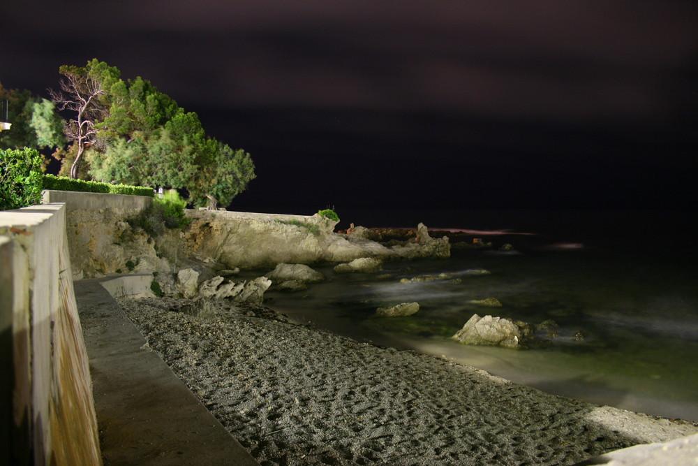 Die Rochenbucht bei Nacht....