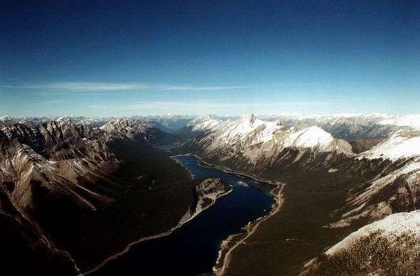 Die Rockies aus der Vogelperspektive
