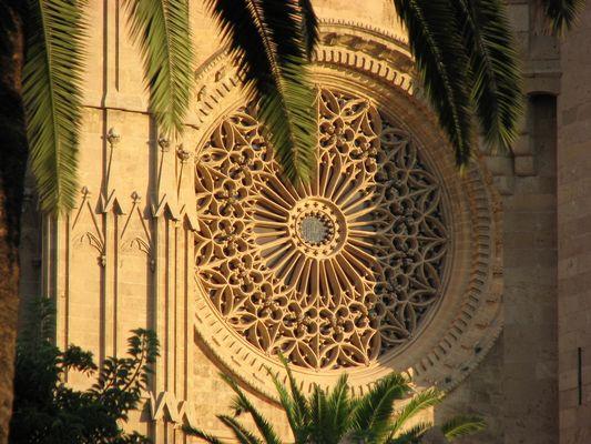 Die Rosette der Kathedrale von Palma