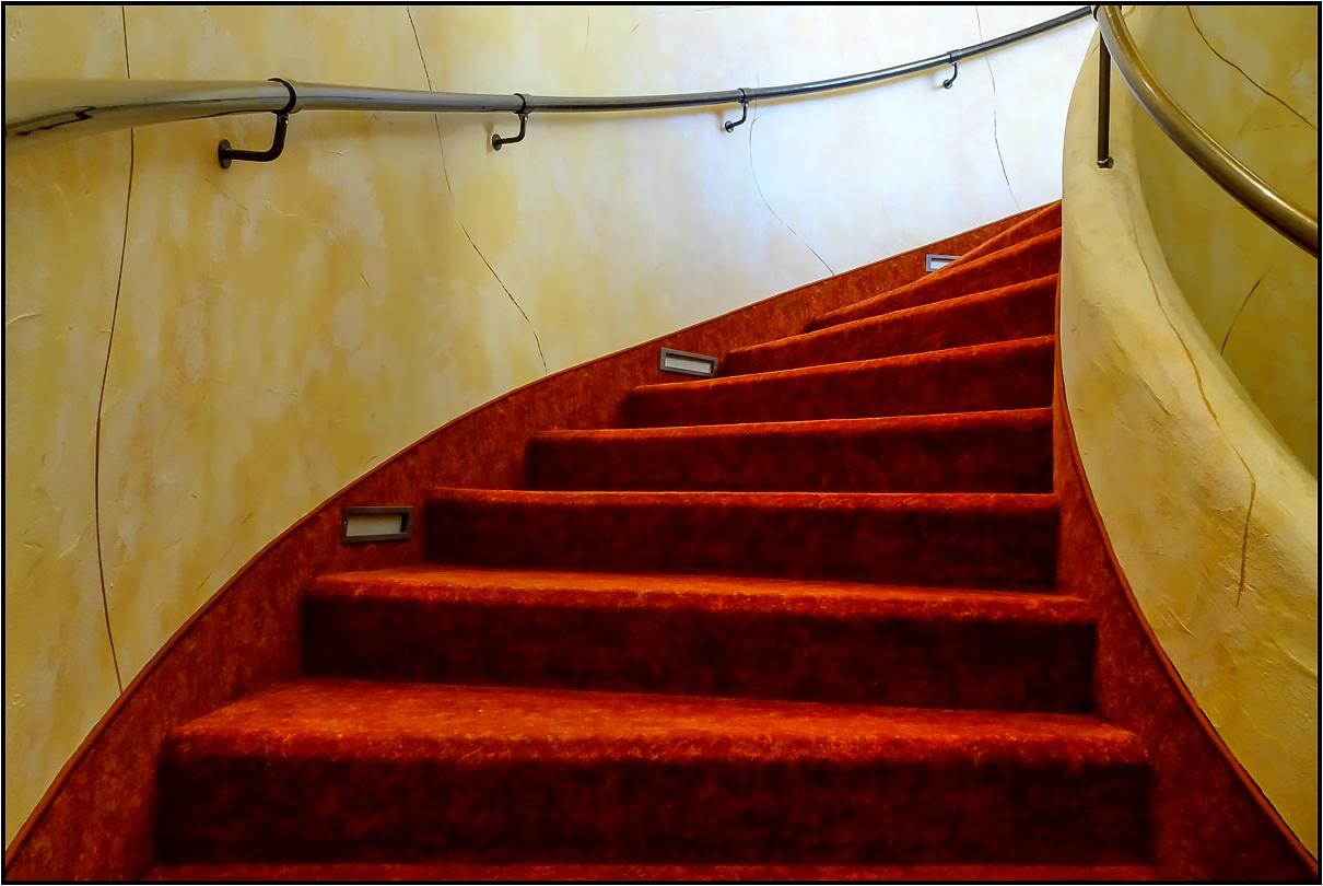 Die rote Treppe.....