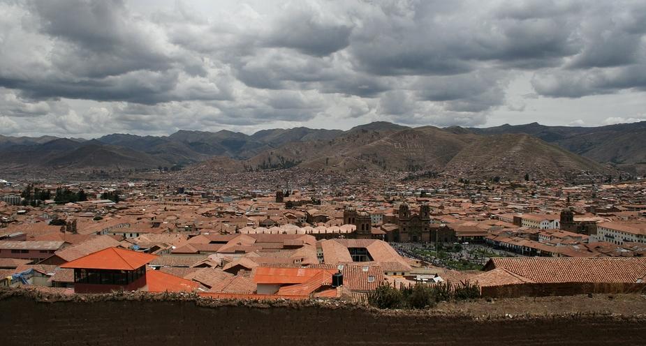 Die roten Dächer von Cuzco