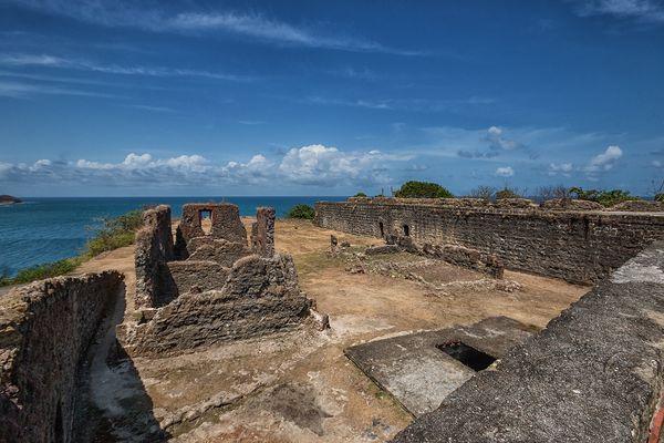 Die Ruinen vom Fort San Lorenzo...