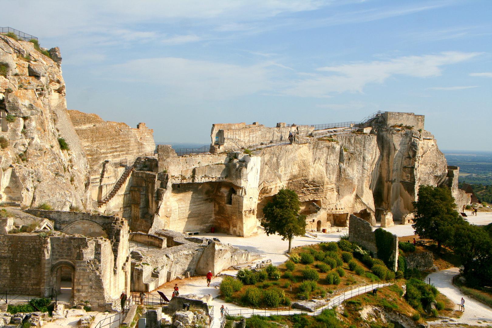 Die Ruinen von Les Baux