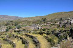 Die Ruinen von Uyo Uyo im Gebiet des Colca-Canyons