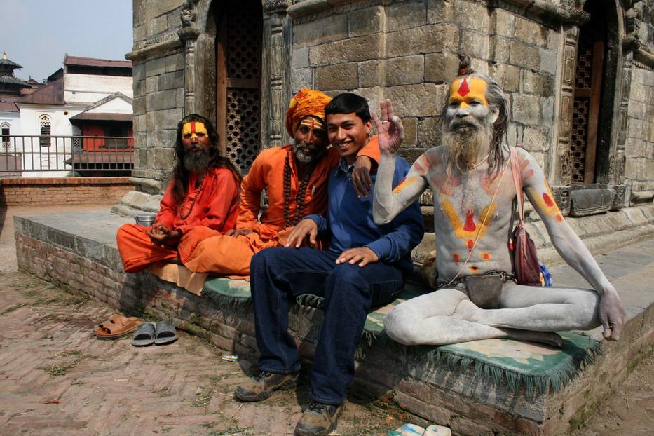 die Sadhus in Pashupatinath