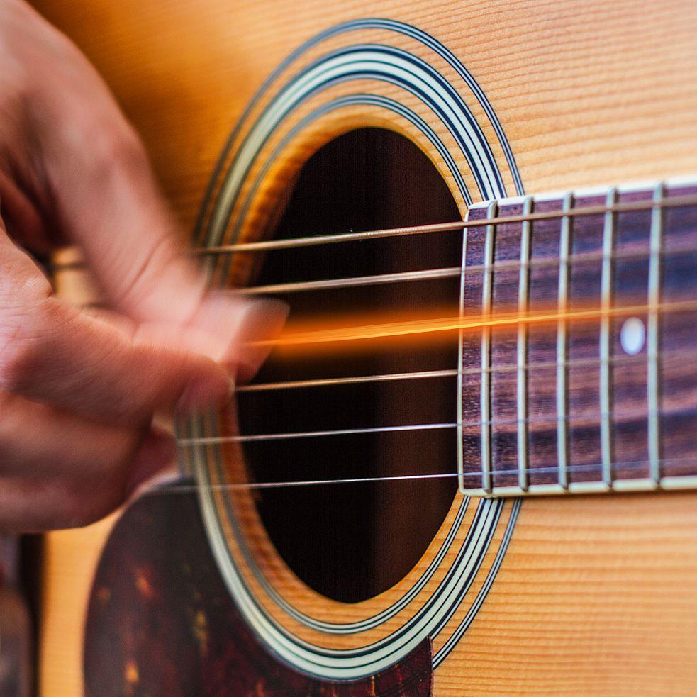 Die Saiten der Gitarre zum Glühen bringen...