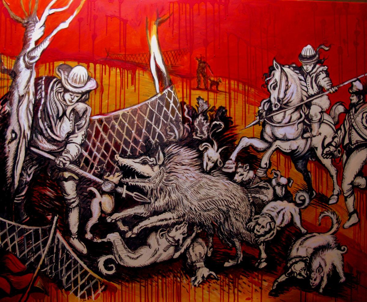 DIE SAUJAGD DES ALTEN B ( 190 x 210 cm )