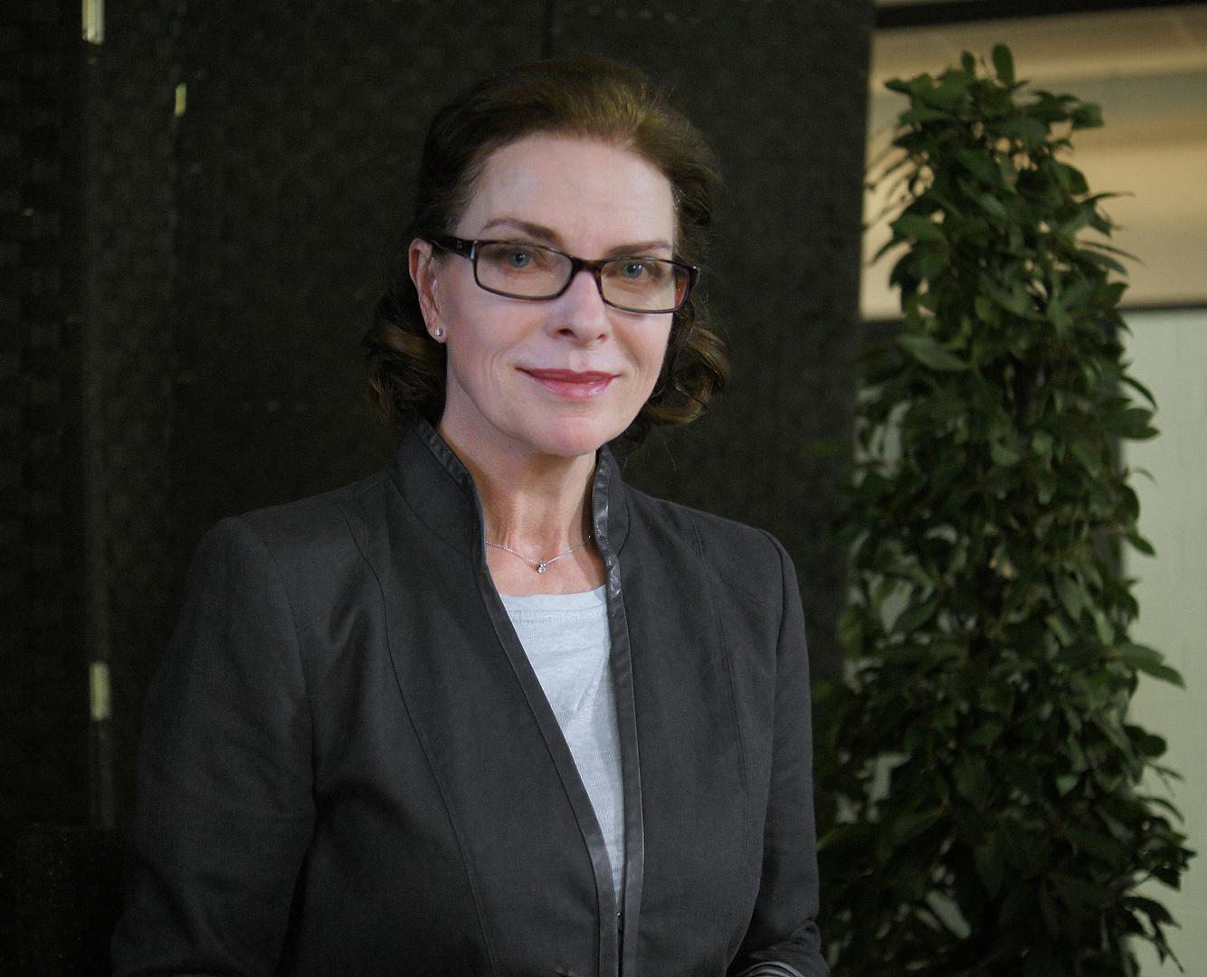 Die Schauspielerin Gudrun Landgrebe …