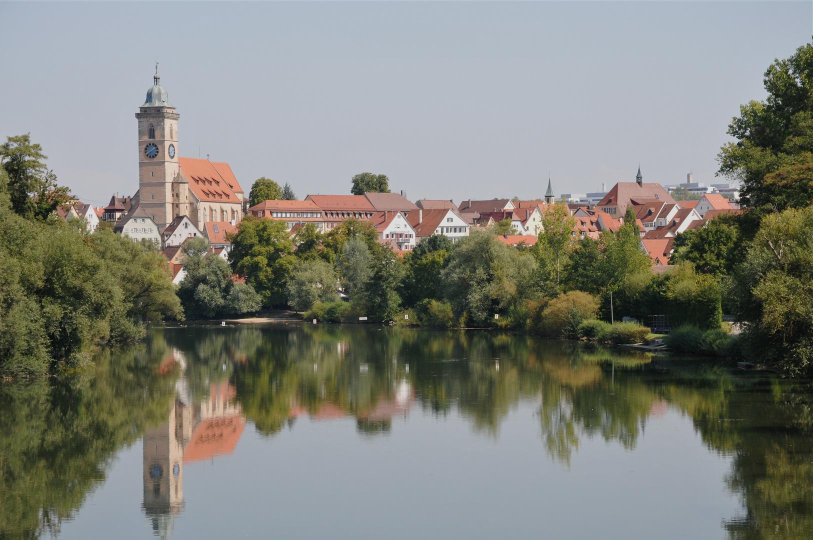 Die schöne alte Stadt Nürtingen am Neckar