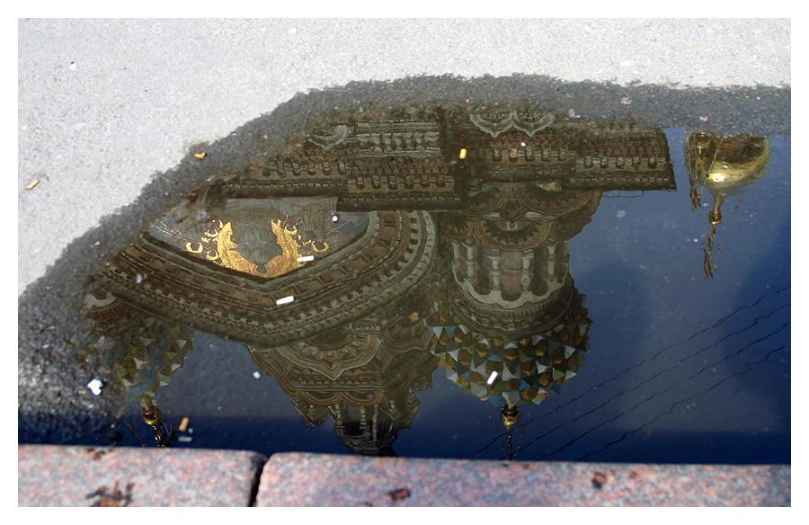 Die schönste Wasserpfütze von St. Petersburg...