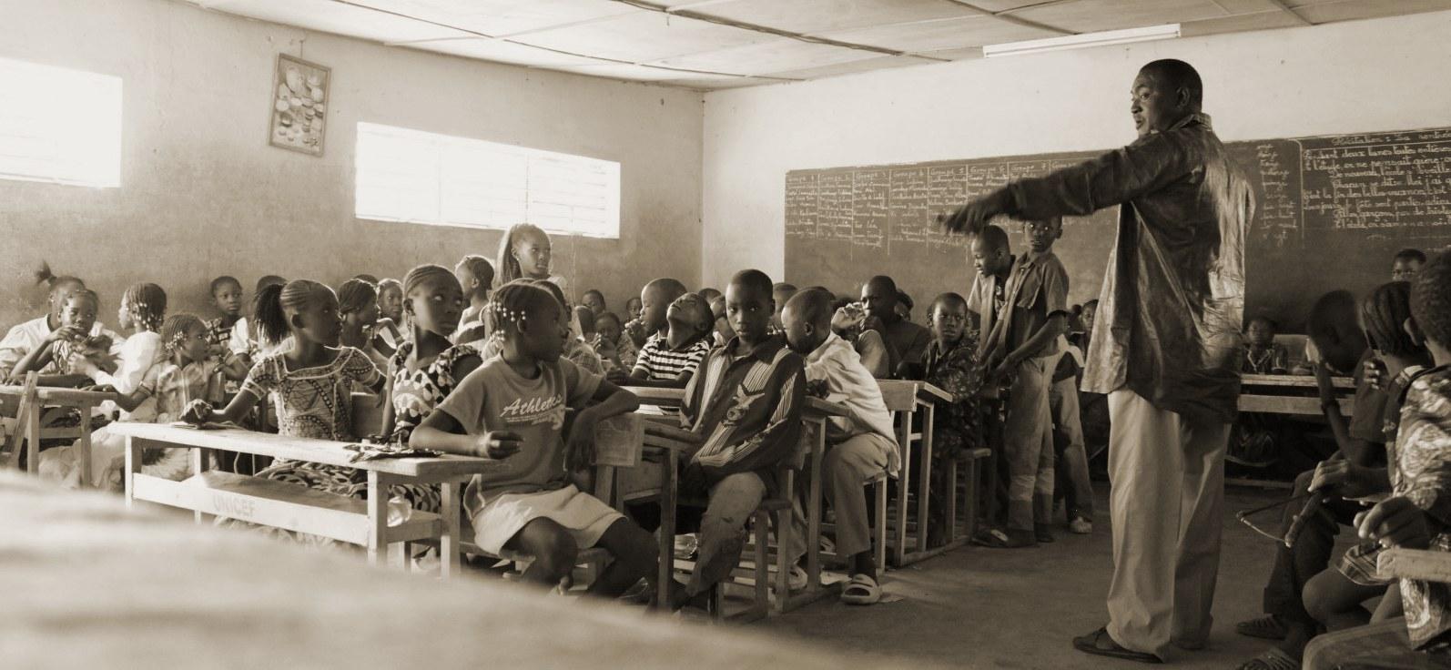 Die Schulklasse / Westafrika