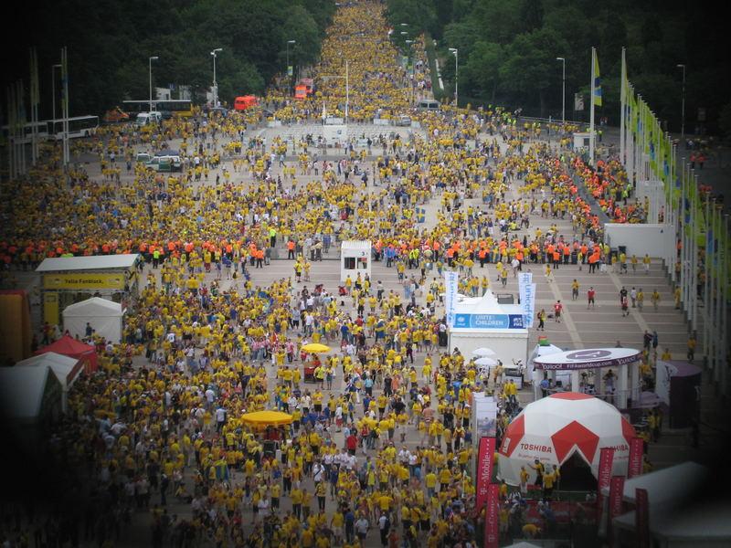 Die Schweden vor´m WM-Spiel in Berlin