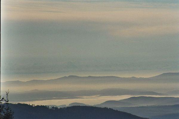 Die Schweizer Alpen aus der Sicht des Hochblauen