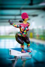 Die Schwimmerin...