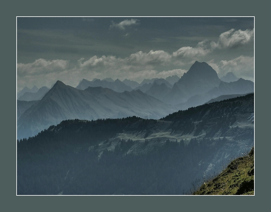 Die Sehnsucht nach Bergen...