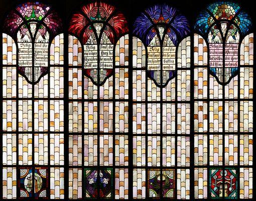 Die Seligpreisungsfenster in der Herz-Jesu-Kirche in Augsburg-Pfersee (2)