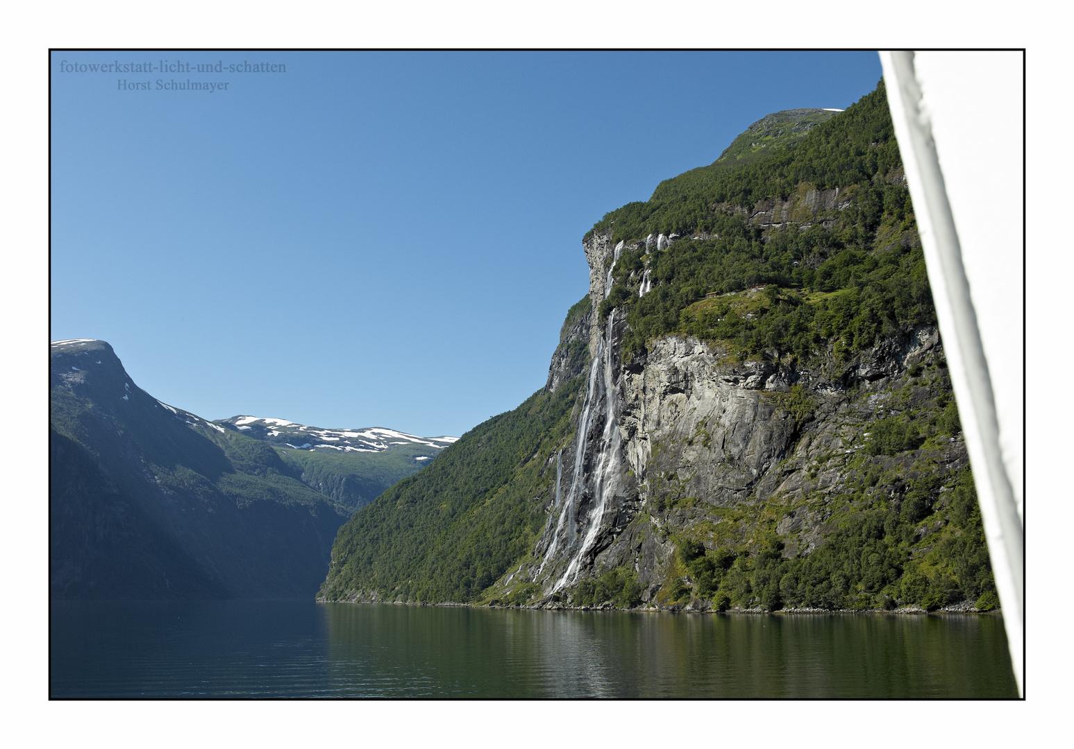 Die sieben Schwestern - Geirangerfjord, Norwegen