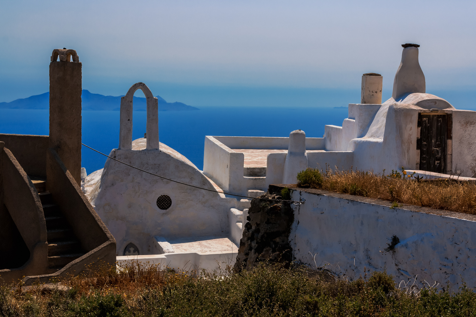Die Skyline von Pyrgos