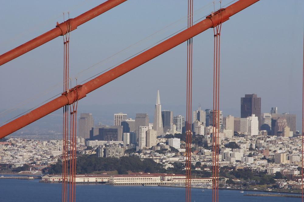 Die Skyline von San Francisco...