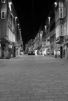 Die Sögestraße in Bremen bei Nacht