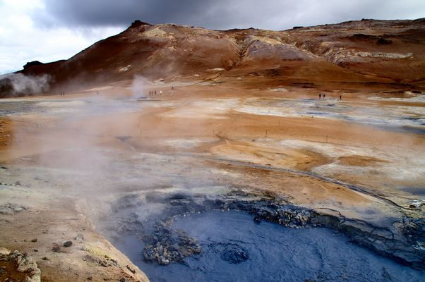 Die Solfatare am Fuß des Námafjall, Island