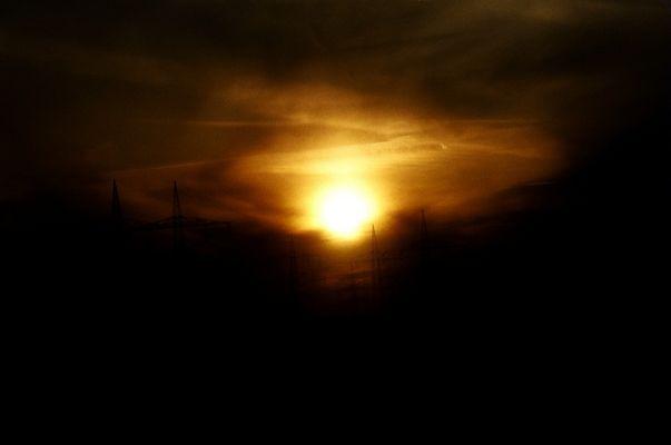 Die Sonne am Abend