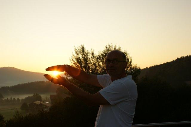 Die Sonne eingefangen ...