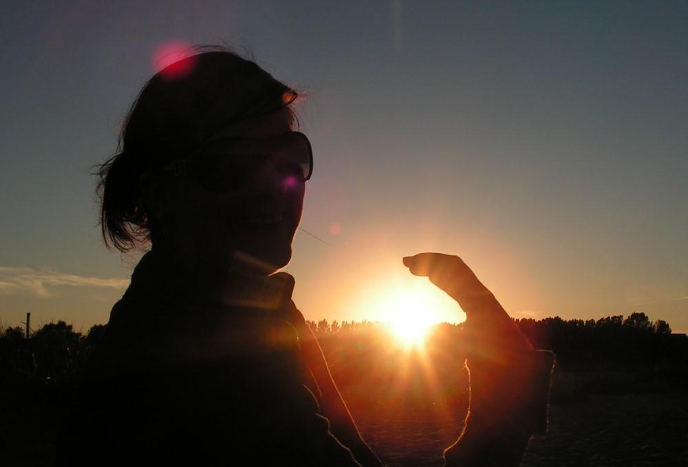 Die Sonne gefangen