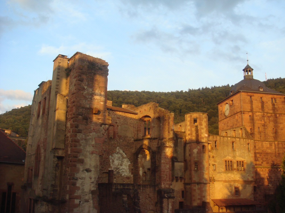 die Sonne geht unter in Heidelberg