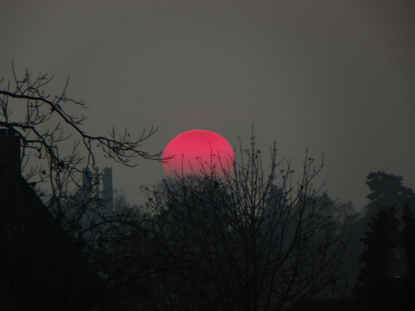 Die Sonne ging unter in November