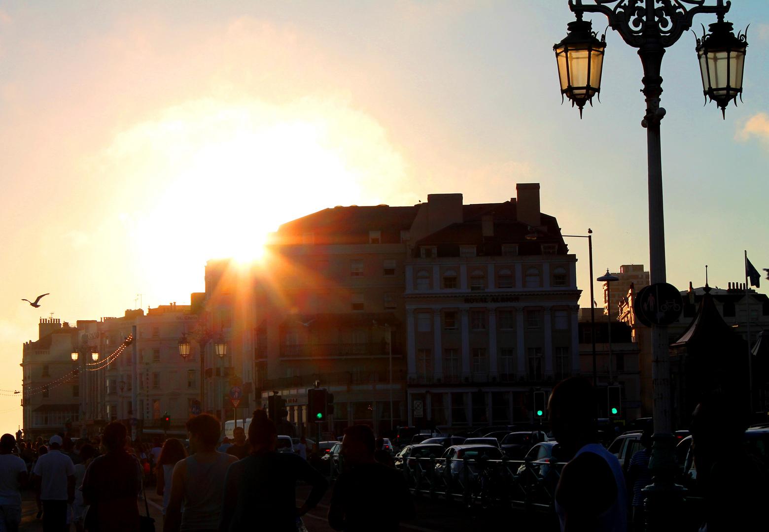 """Die Sonne sagt """"Gute Nacht"""""""