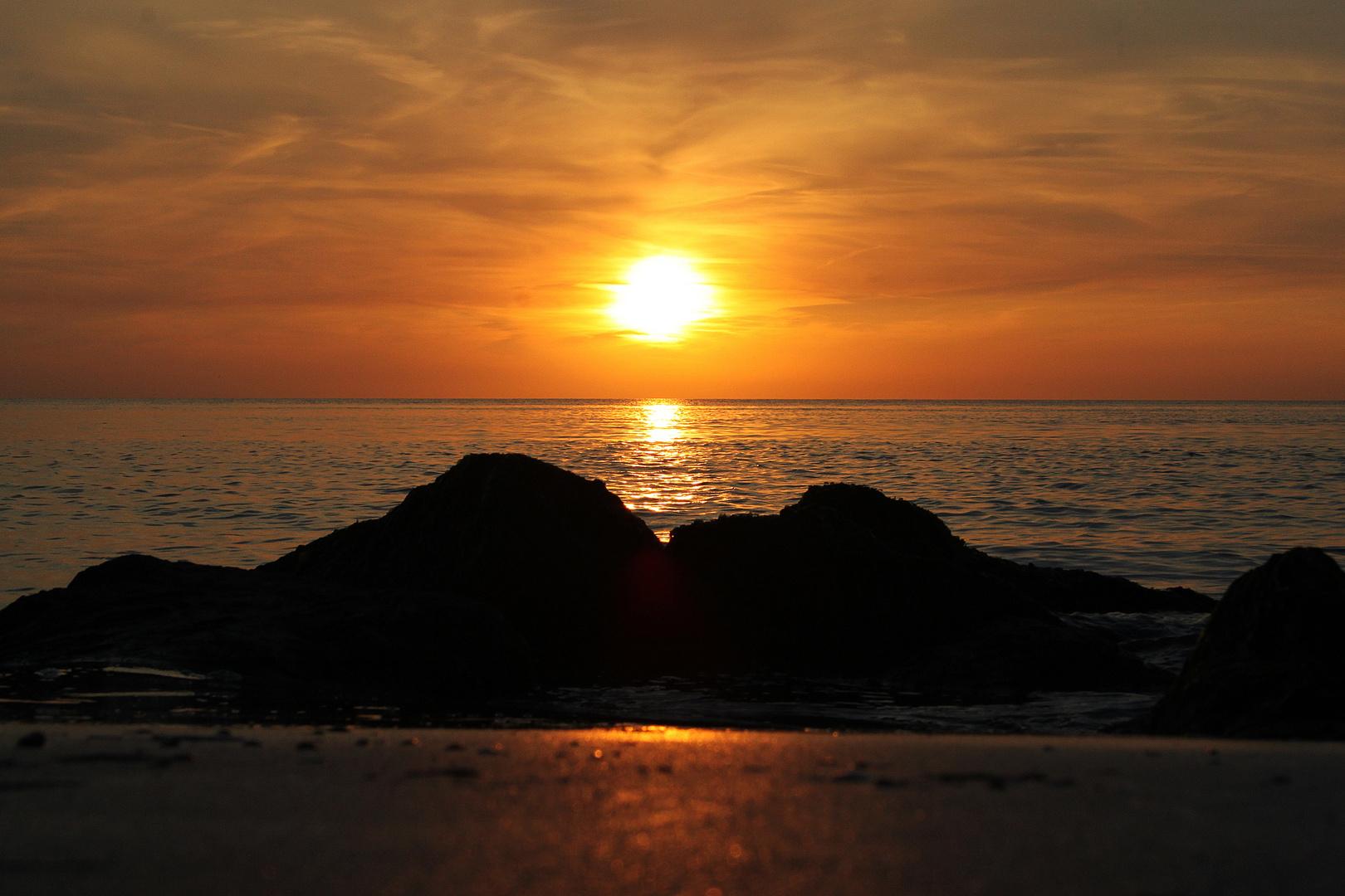 Die Sonne sagt gute Nacht