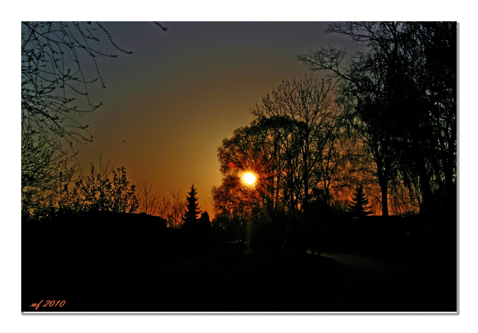 Die Sonne sagt langsam Aufwiedersehen!