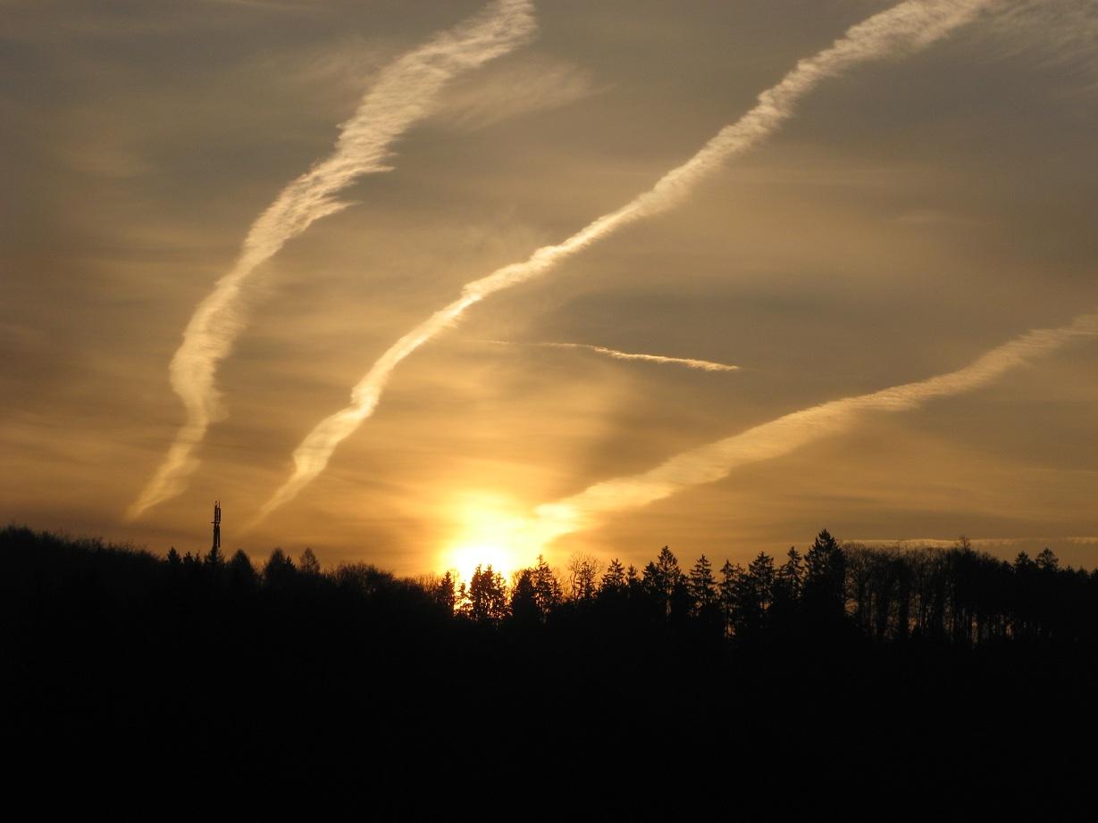 Die Sonne sendet Rauchzeichen