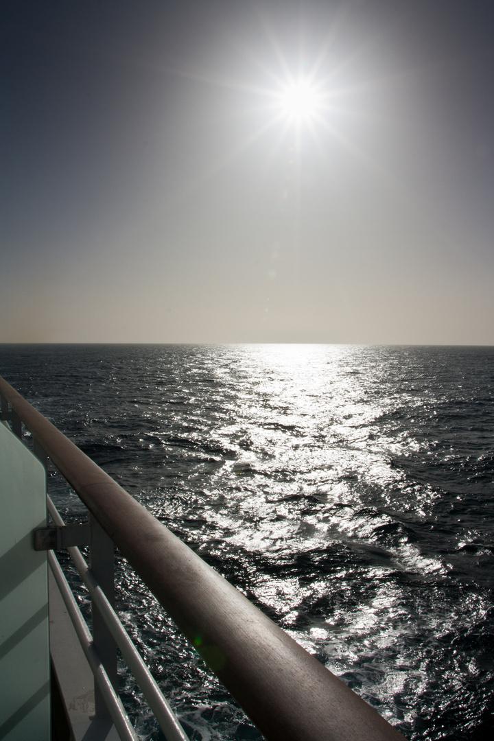 Die Sonne über dem Atlantik