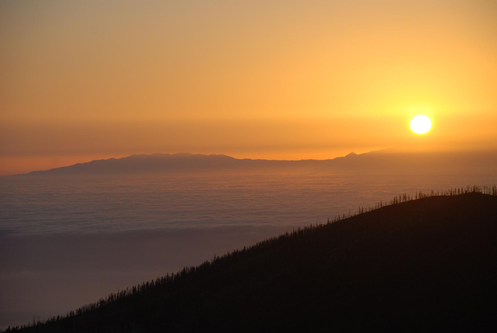 Die Sonne über den Wolken