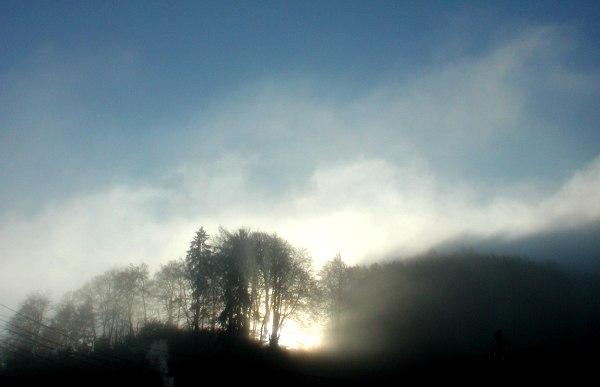 Die Sonne und der Nebel...