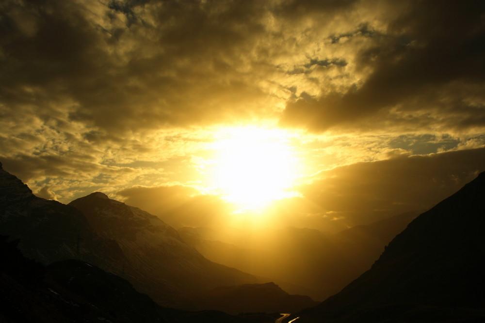 Die Sonne und der Weg