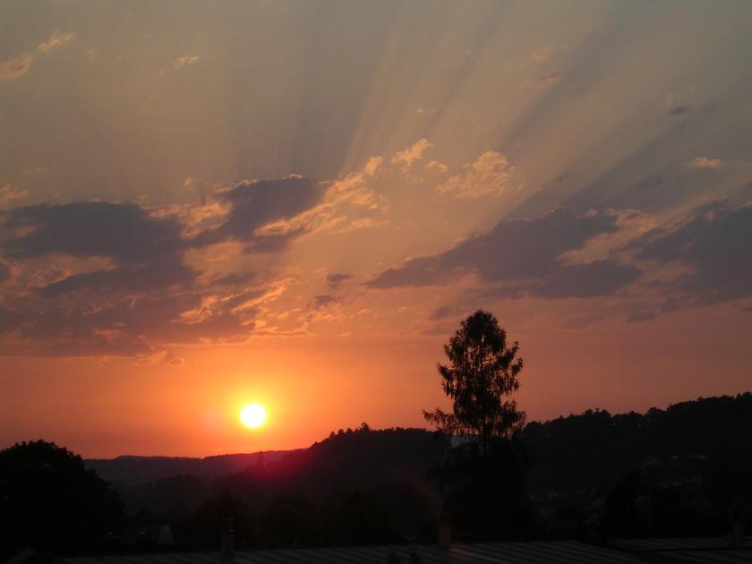 Die Sonne verabschiedet sich...