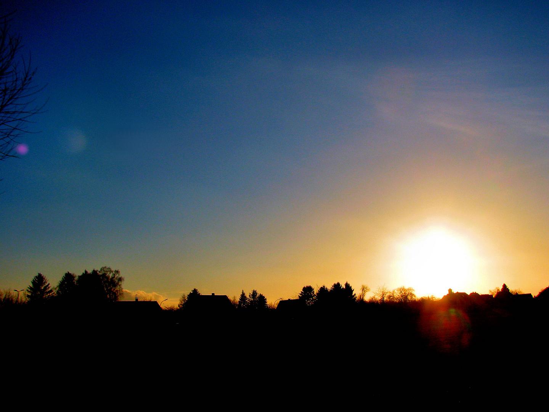 Die Sonne verabschiedet sich