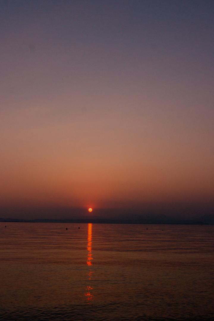die Sonne verlässt den Gardasee #255