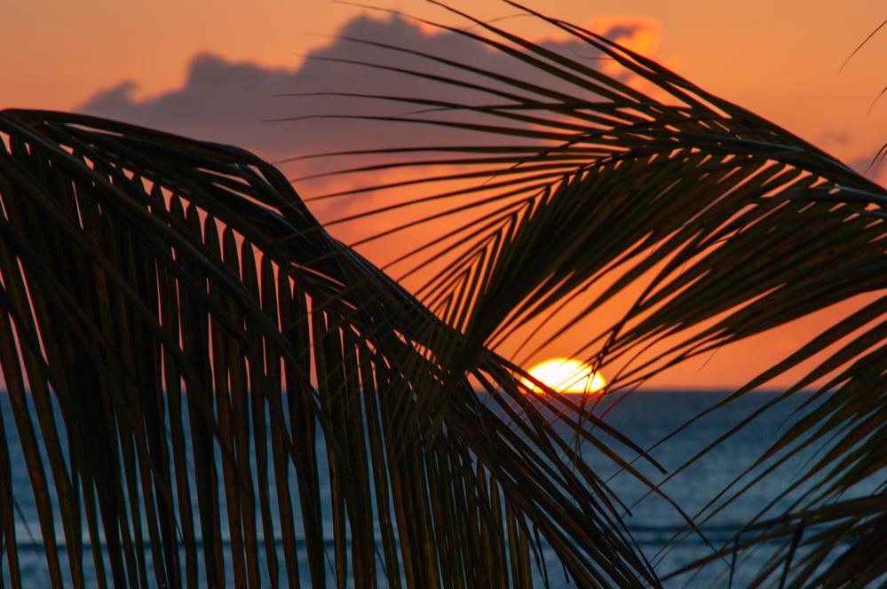 Die Sonnenuntergänge auf Mauritius sind schon ein Erlebnis...