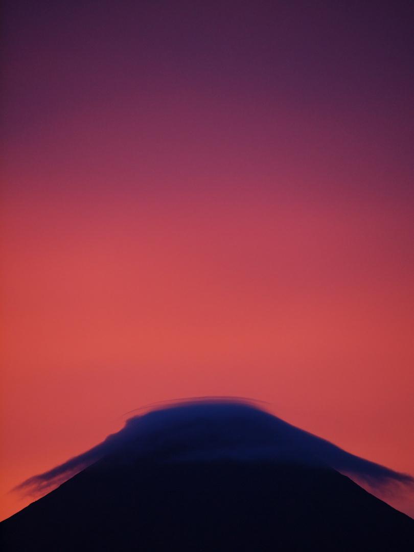 Die Spitze des Vulkans....